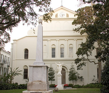Historical St. Louis Cathedral on Jackson Square, in New Orleans, Louisiana, rear view