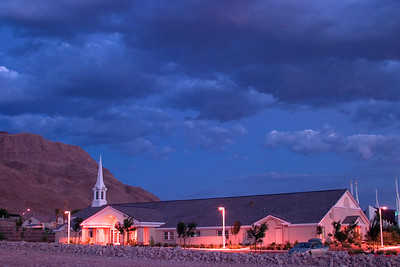 LDS Church on Sunrise Mountain at Dusk