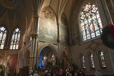 Savana, GA church interior, at Chrstmas