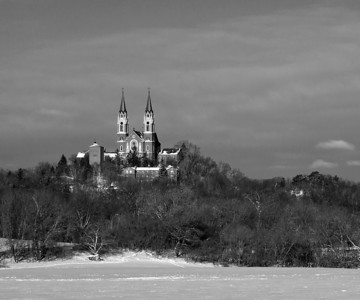 Holy Hill Basilica National Shrine of Mary, Wisconsin Winter