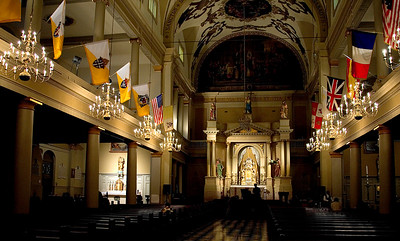 Historical St. Louis Cathedral  interior on Jackson Square, in New Orleans, Louisiana