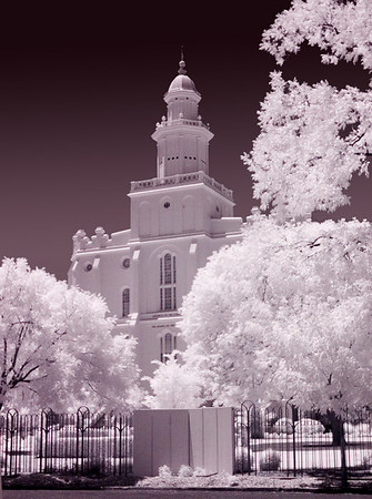 IR version of the LDS St. George Utah Temple