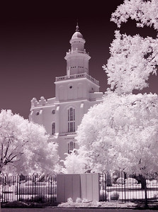 IR version of the LDS St. George Utah Temple