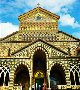Amafli, Italy:  Cathedral, exterior