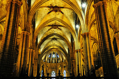 Barcelona, Spain:  Cathedral, interior