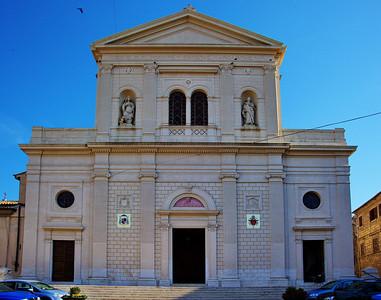 Tarquinia, Italy:  Church, exterior