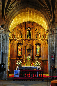 Vigo, Spain:  Church interior altar