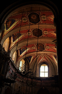 Lisbon, Portugal:  Cathedral, interior, ceiling