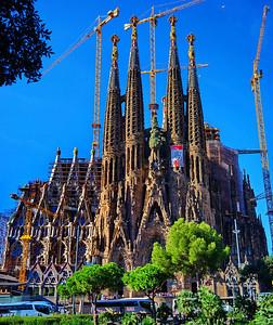 Barcelona, Spain:  Sagrada Familia, exterior