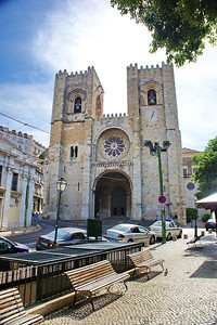 Lisbon, Portugal:  Cathedral, exterior