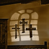 Crosses on Adobe wall