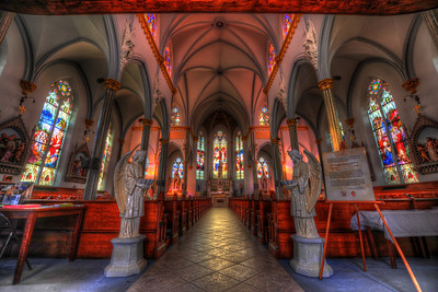 HDR image of the interior of Immaculate Conception Catholic Church in Downtown Jacksonville, FL.