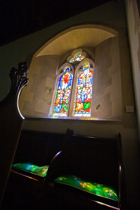 Stained Glass window in St Andrews Church, Collingbourne Ducis