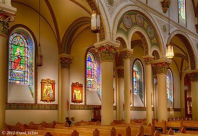 St. Francis Cathedral Basilica in Santa Fe, New Mexico. 3-shot HDR.