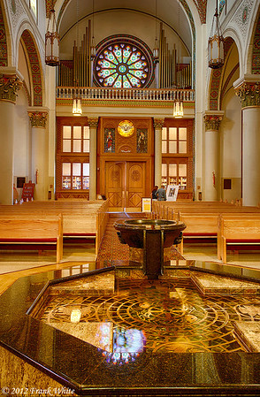 St. Francis Cathedral Basilica in Santa Fe, New Mexico. 3-shot HDR.