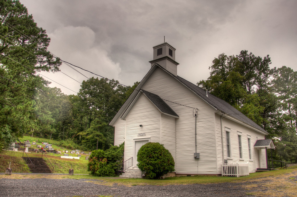 "<h3 style=""text-align: left;""><strong>Today's Photo:  Talking Rock Baptist Church</strong></h3> This is another one of those churches that you would not find if you were not out just exploring.  However, I have been by this one many times and always wanted to stop and get some photos of it.  Finally I had some time and the weather was cooperating.  This is another of those typical Appalachian mountain churches.  If you click on the photo look at the sign over the front door you can see the age of this church.  Read more at the <a href=""http://justshootingmemories.com"">Daily Photography Blog</a> Just Shooting Memories!..."