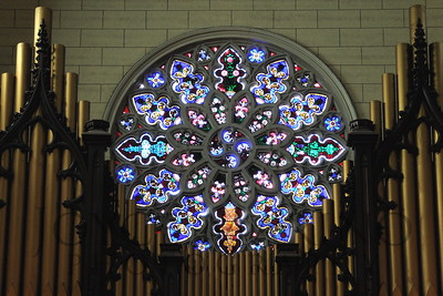 Beautiful glass window in Mount Vernon United Methodist Church, Baltimore, MD -- DSC_0682r