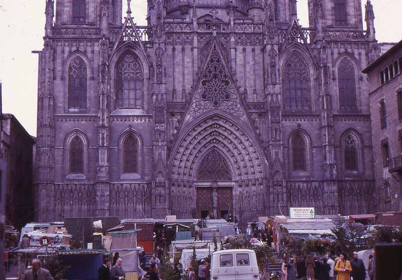 Barcelona cathedral, Christmas 1972
