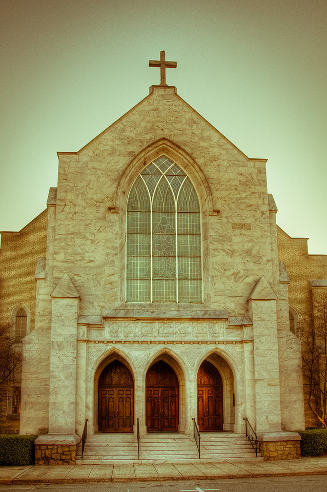 "<h3><strong>Today's Photo:  A Church in Marietta</strong></h3> There are tons of churches in downtown Marietta and the area surrounding downtown.  You will not have missed church due to a lack of seating.  I found this one on, of all streets, Church Street.  Again, it is one of my famous, I missed the name churches.  However, I must confess to taking this one a while back.  Before I thought it would be hard to remember the name to everything I had taken a photo of.  I guess age is finally catching up to me.  Read more at the <a href=""http://justshootingmemories.com"">Daily Photography Blog</a> Just Shooting Memories!..."