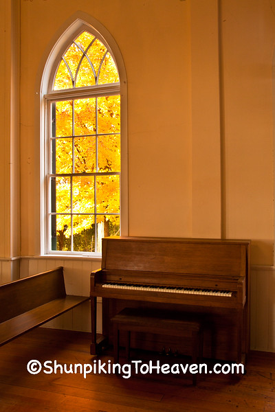 Piano and Window of First Lutheran Church, Middleton, Wisconsin