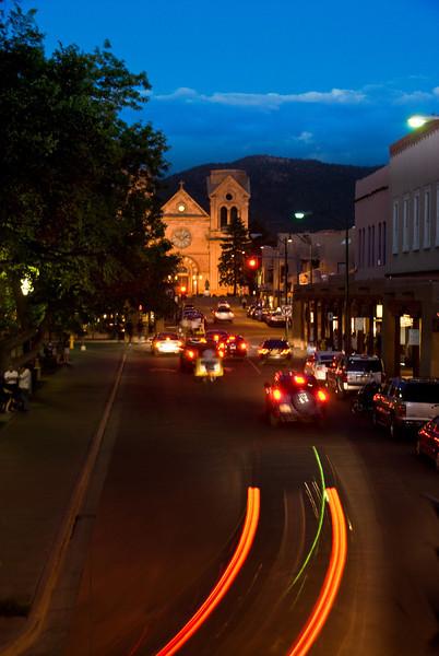 Santa Fe Plaza at Night