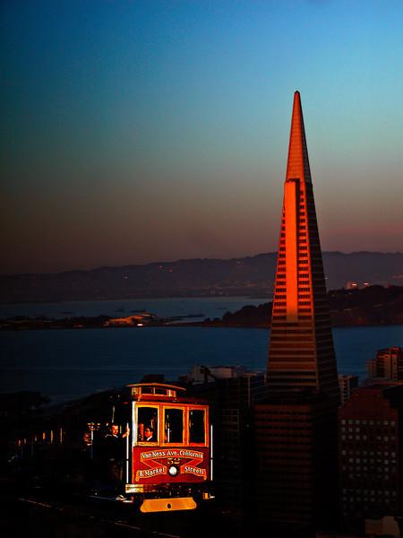San Francisco Icons at Sunset
