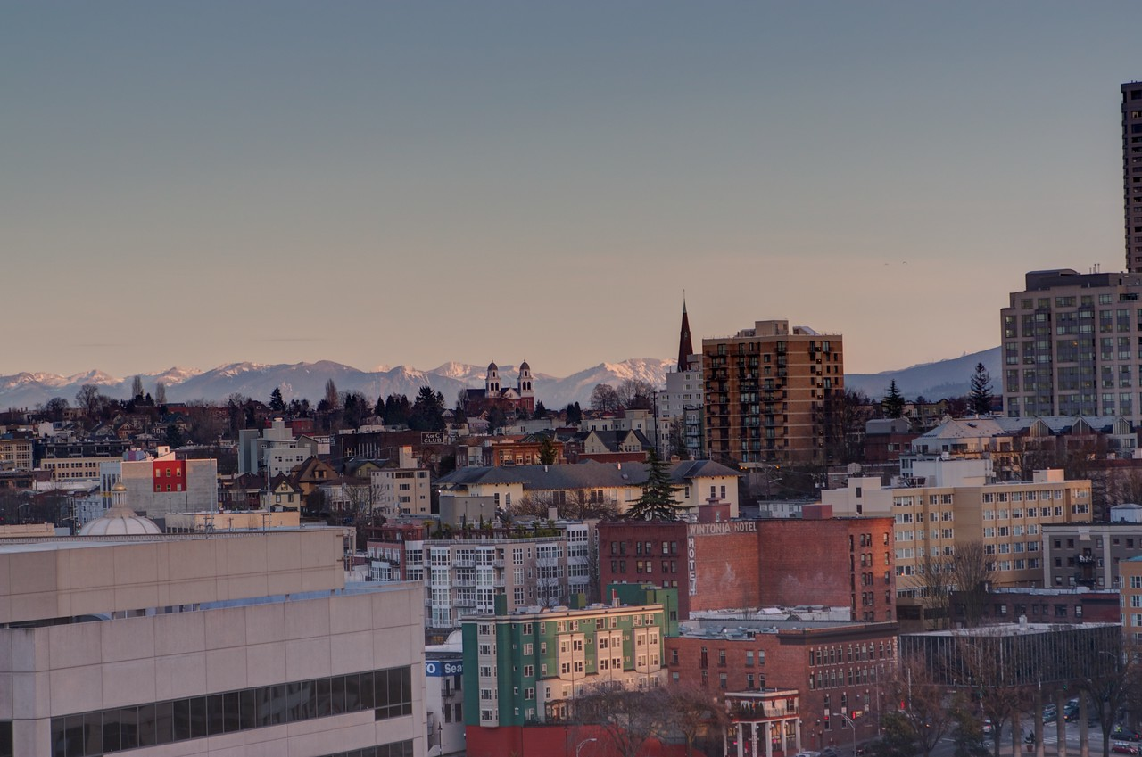 Mountains over Seattle