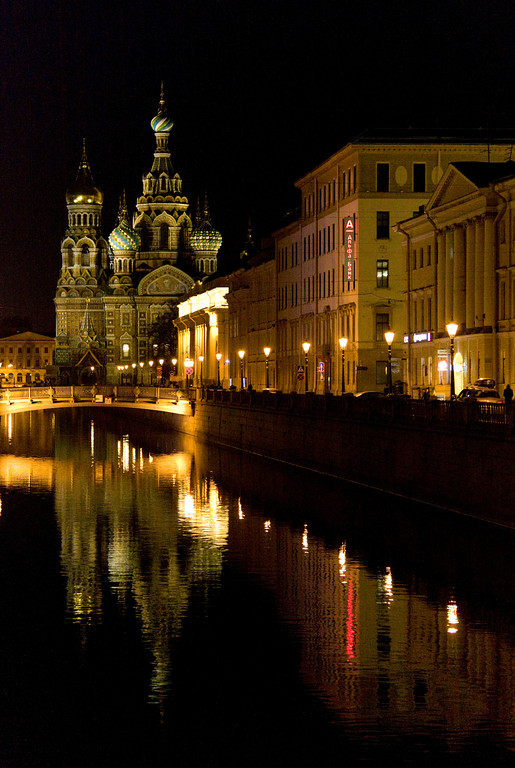 Winter Canal by Night