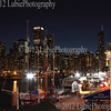 Chicago downtown from Navy Pier - night view
