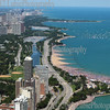Lake Shore Dr in Chicago - top view