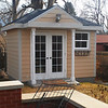 No project to small!  A new shed to match the house for this repeat client was great fun!