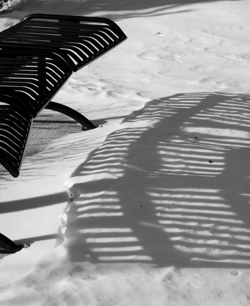 Benchmade - Shadows in snow<br /> Manchester, NH<br /> December 2009