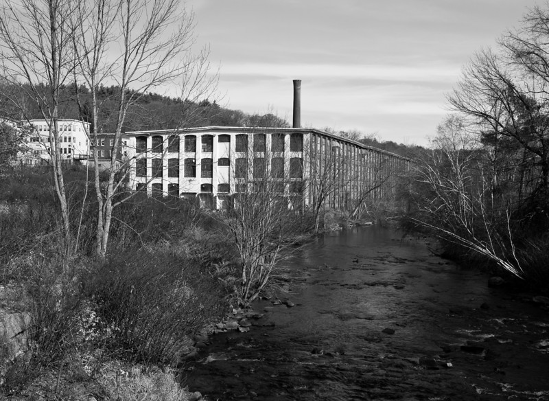 abandoned mill in Fitchburg, MA.  It's amazing how much infrastructure is just left to molder in obsolescence.
