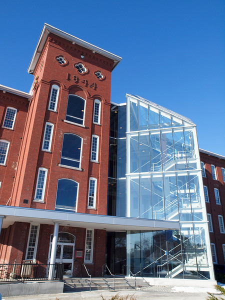 1844 Mill<br /> Amoskeag Mills, Manchester NH<br /> Dec 2009<br /> <br /> I really liked the juxtaposition of old and new.