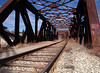 Railroad bridge<br /> Hooksett NH<br /> December 2009<br /> <br /> I really like the curve in this one.