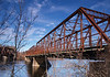 Abandoned bridge over Merrimack River<br /> Hooksett, NH<br /> Dec 2009