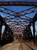 Railroad bridge overhead<br /> Hooksett, NH<br /> December 2009