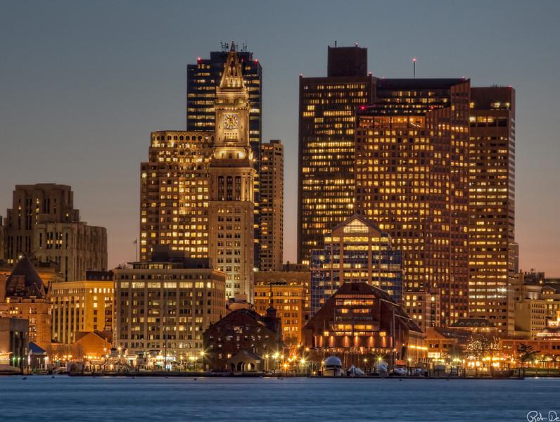 Boston In Evening