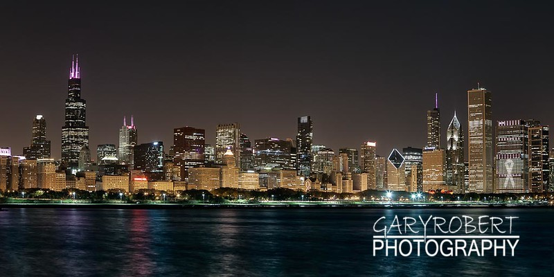 Chicago Skyline, Breast Cancer Awareness Month