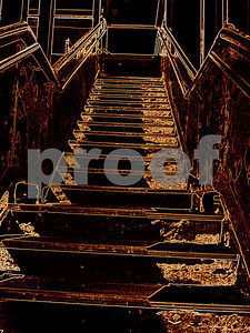 Steps to the Duquesne Incline Pittsburgh PA  copyrt m burgess