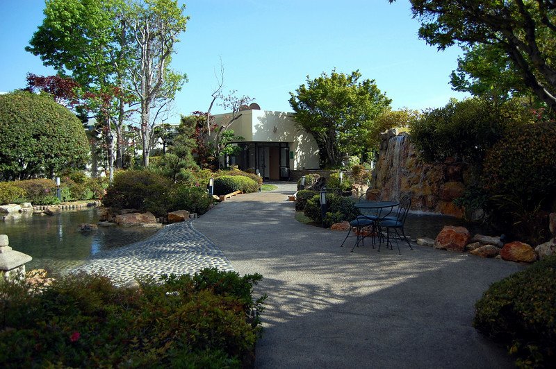 Garden on the roof of Kyoto Grand Hotel