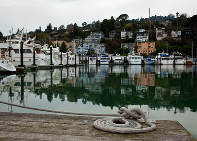 Boats docked at the Sausalito Yacht Club