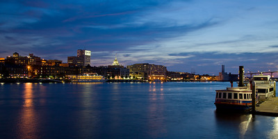 Riverfront at Night - Savannah, GA