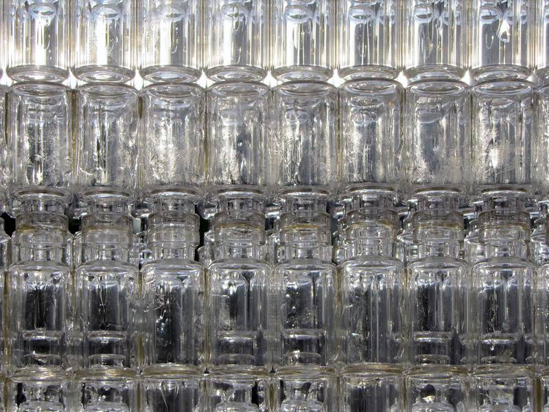 15 Clear Story, inside looking out. These are the short (medicine?) bottles.