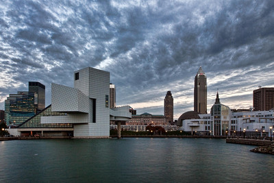 View of Cleveland, Ohio from Voinivich Park