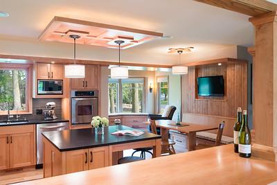 Kitchen pass through to new sunroom