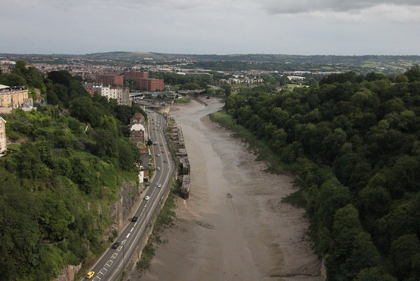 Avon Gorge, looking south.<br /> Clifton Suspension Bridge<br /> 18 July 2015