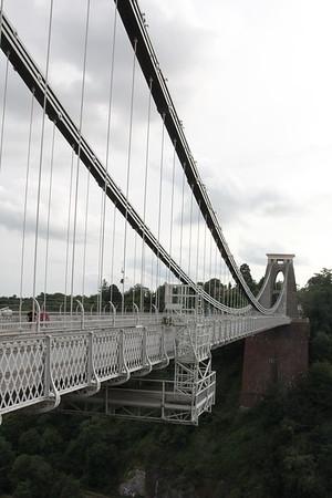 Looking towards the west pier<br /> Clifton Suspension Bridge<br /> 18 July 2015