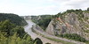 Avon Gorge, looking north.<br /> Clifton Suspension Bridge<br /> 18 July 2015