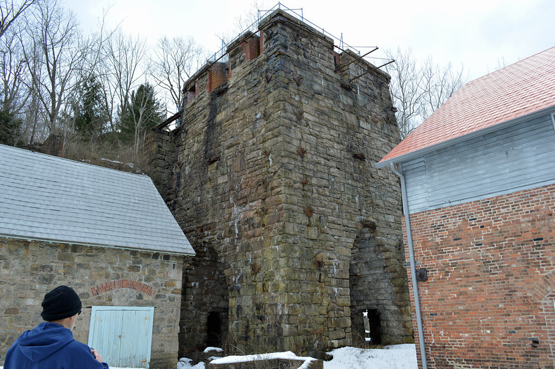 The iron furnace.  This was built in 1854 by Robert and Peter Parrott. Iron from this furnace (and others) was used to make Parrott Riffles, a type of small Cannon, which were used during the Civil War.